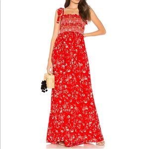 Free People Color My World Jumpsuit in Red